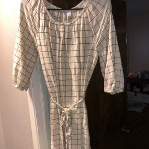 Old navy knee length button up dress